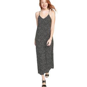 Old Navy Black Speckled Maxi Dress